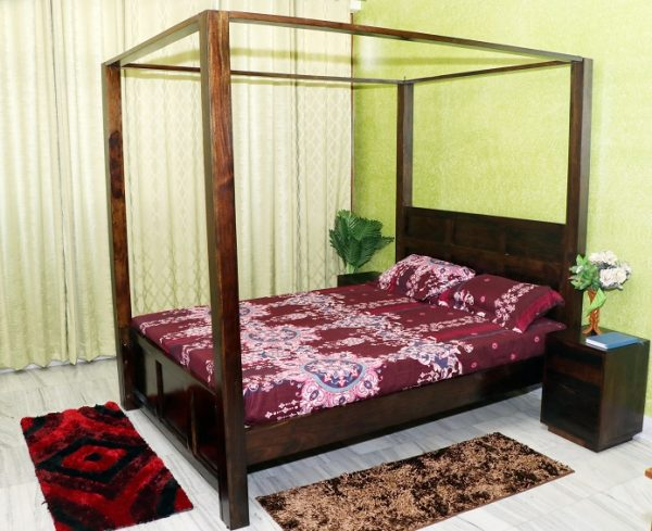 Akon Poster Bed in Solid Sheesham Wood