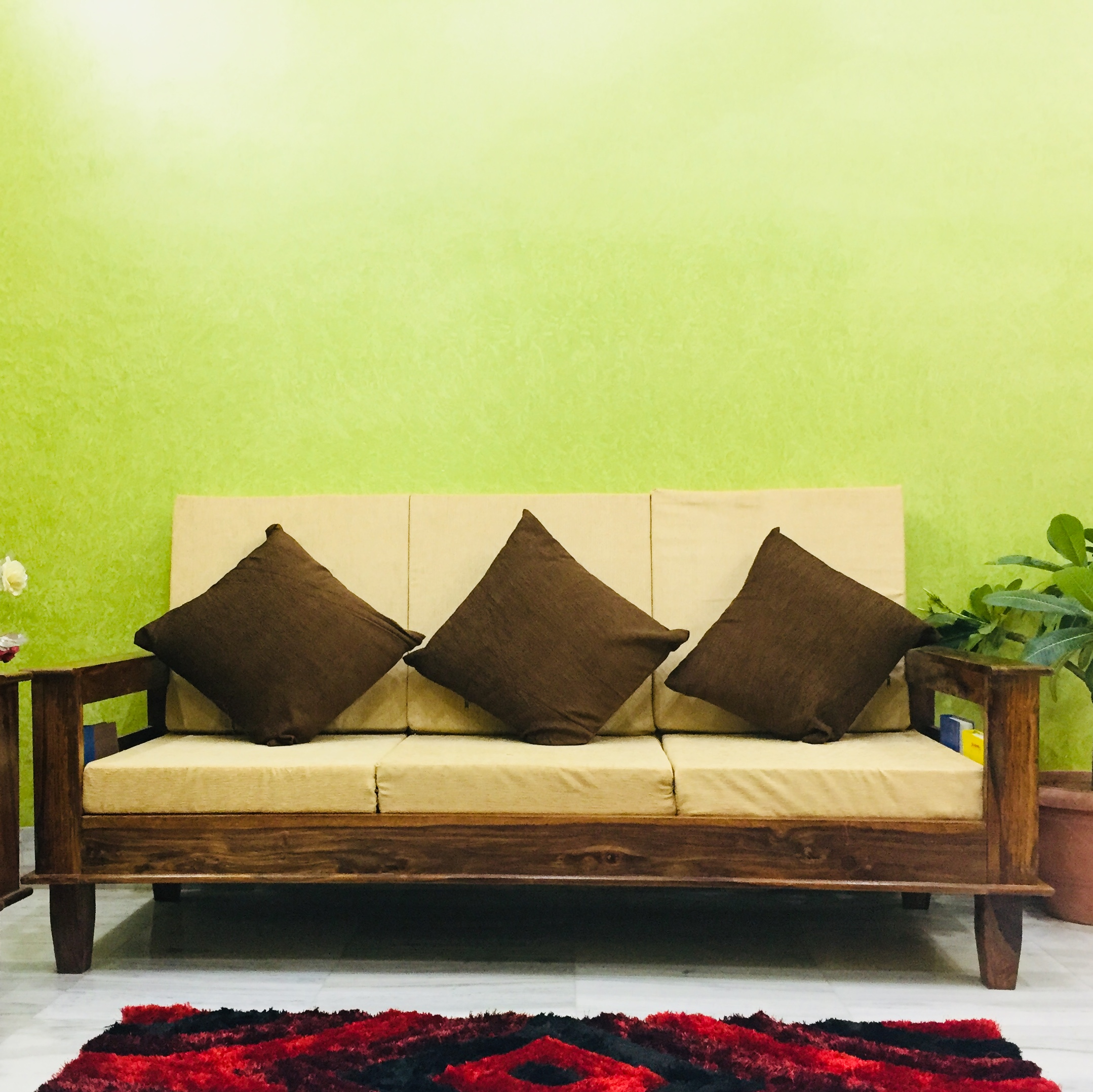 Maharaja Three Seater Sofa in Solid Sheesham Wood - Online ...