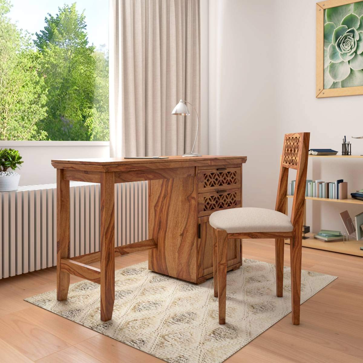 Jodhpur Wooden Study Table With Chair