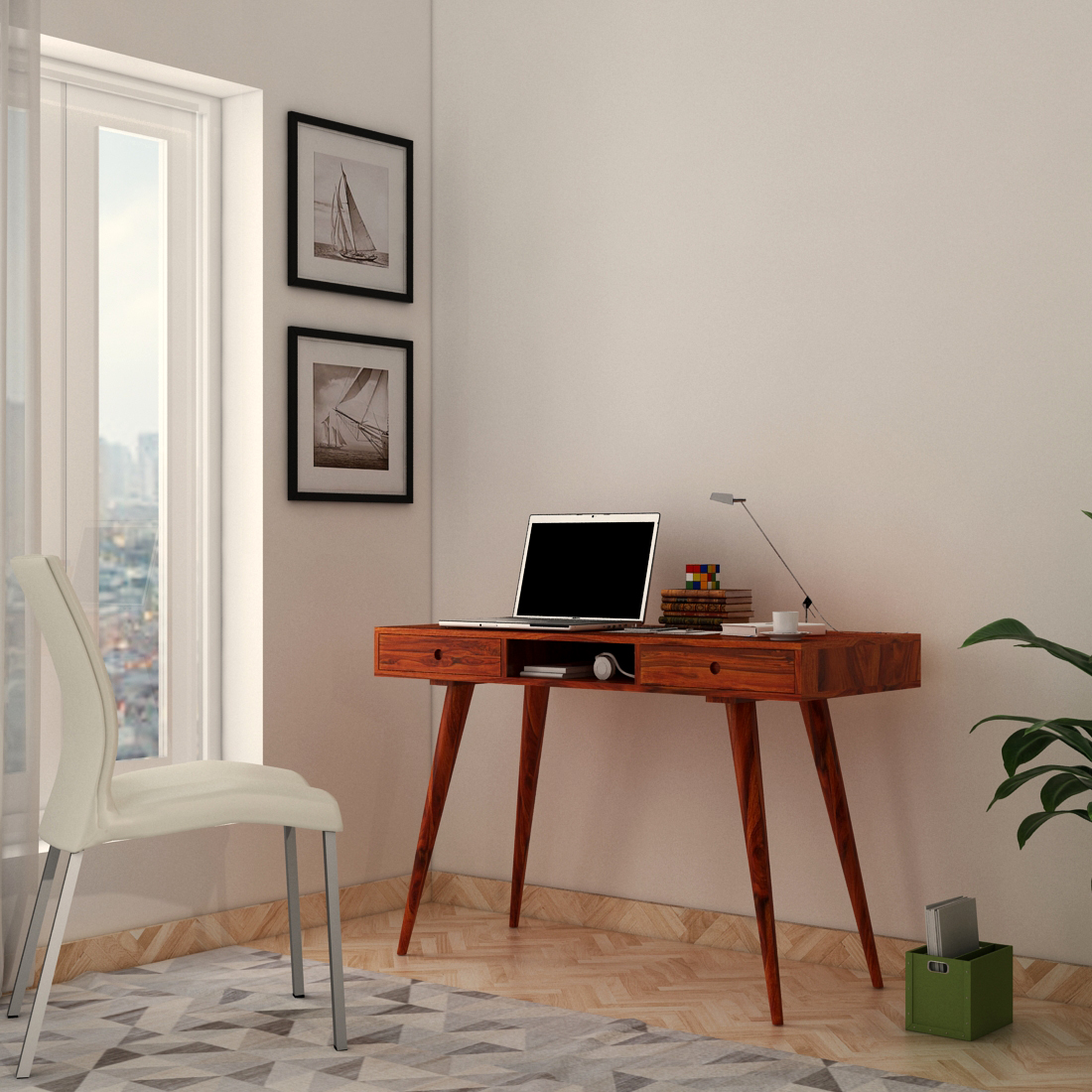 Italian Sheesham Wood Study Table